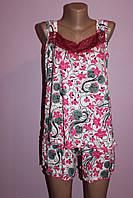 Пижама майка с шортами Батал, фото 1