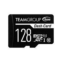 Карта памяти MicroSDXC 128GB UHS-I Class 10 Team Dash Card + SD-adapter (TDUSDX128GUHS03)