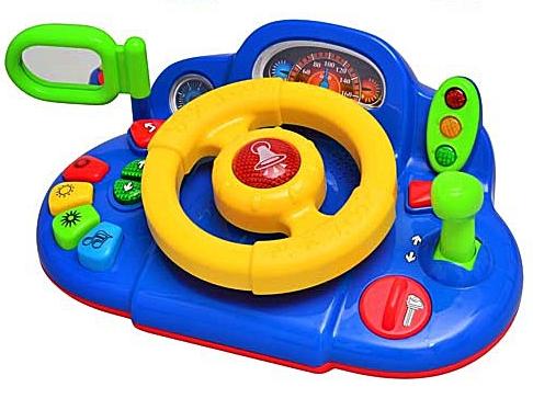 Музыкальная игрушка руль.Детский автотренажер развивающий.