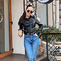Куртка косуха 8809 черная 45 см 42-46