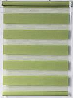 Готовые рулонные шторы 300*1600 Ткань ВН-03 Светло-зелёный