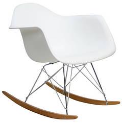 Кресло-качалка Тауэр R, на полозьях, дерево бук, пластик, цвет белый