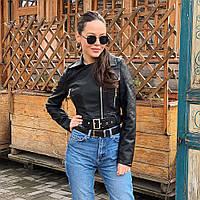Куртка косуха 8805 черная 50 см 42-46