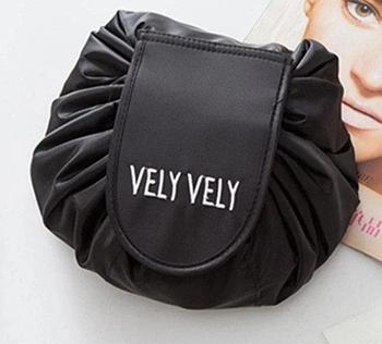 Косметичка-органайзер Vely Vely | Органайзер-мешок для косметики | Черный
