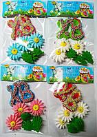 Пасхальное украшение из сахарной  мастики ХВ с цветами