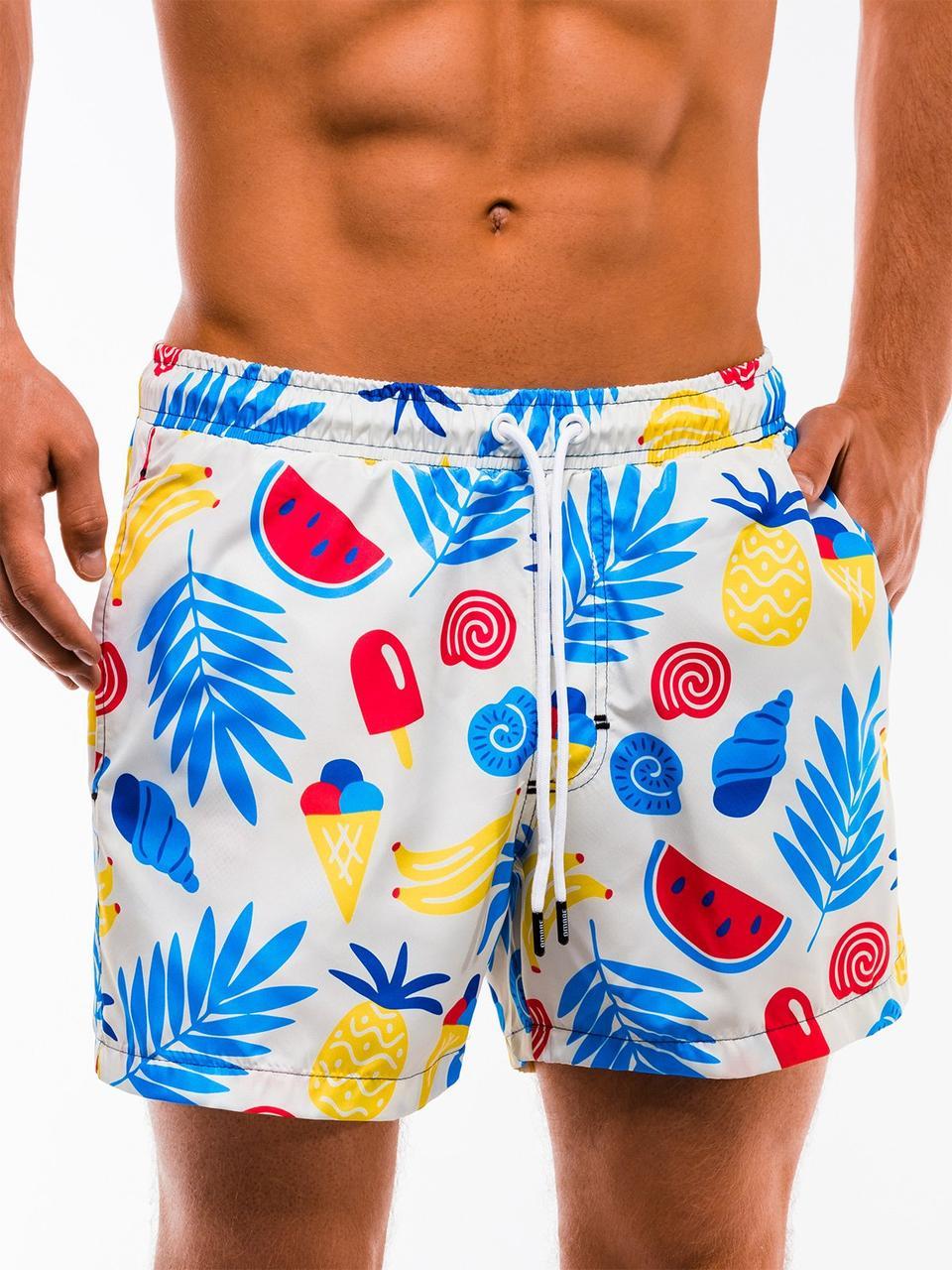 Мужские яркие короткие плавательные шорты Ombre  оригинал