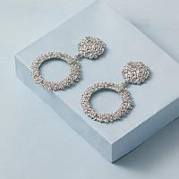 """Великі Вінтажні сережки для жінок """"French modern» кільця срібні"""