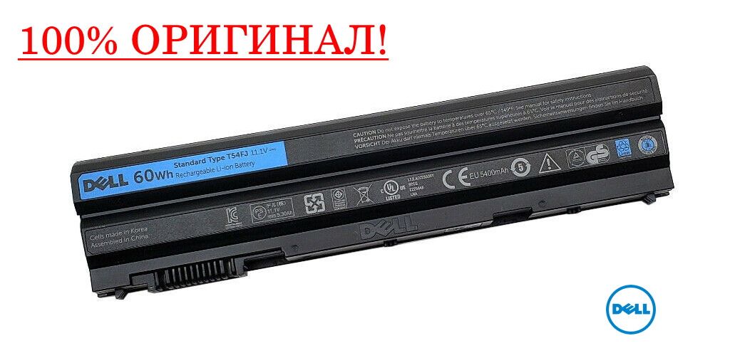 Оригинальная батарея Dell Vostro 3560, 3460 - T54FJ (11.1V 60Wh) - Аккумулятор, АКБ