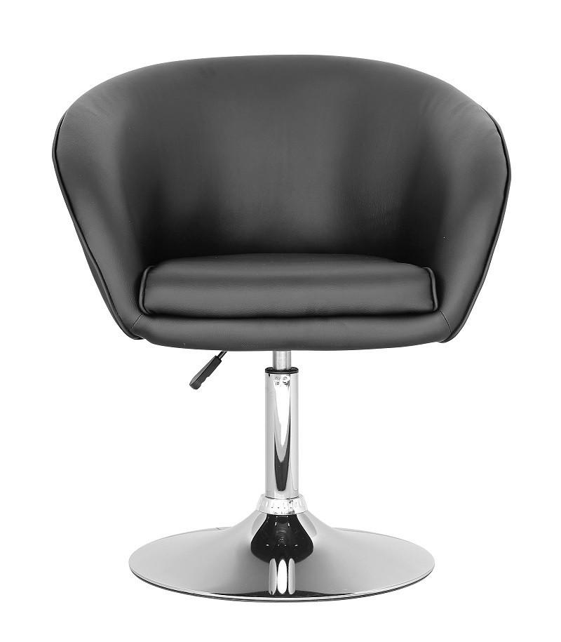 Крісло Мурат барне, м'яке, хромоване, еко шкіра, колір чорний, диск