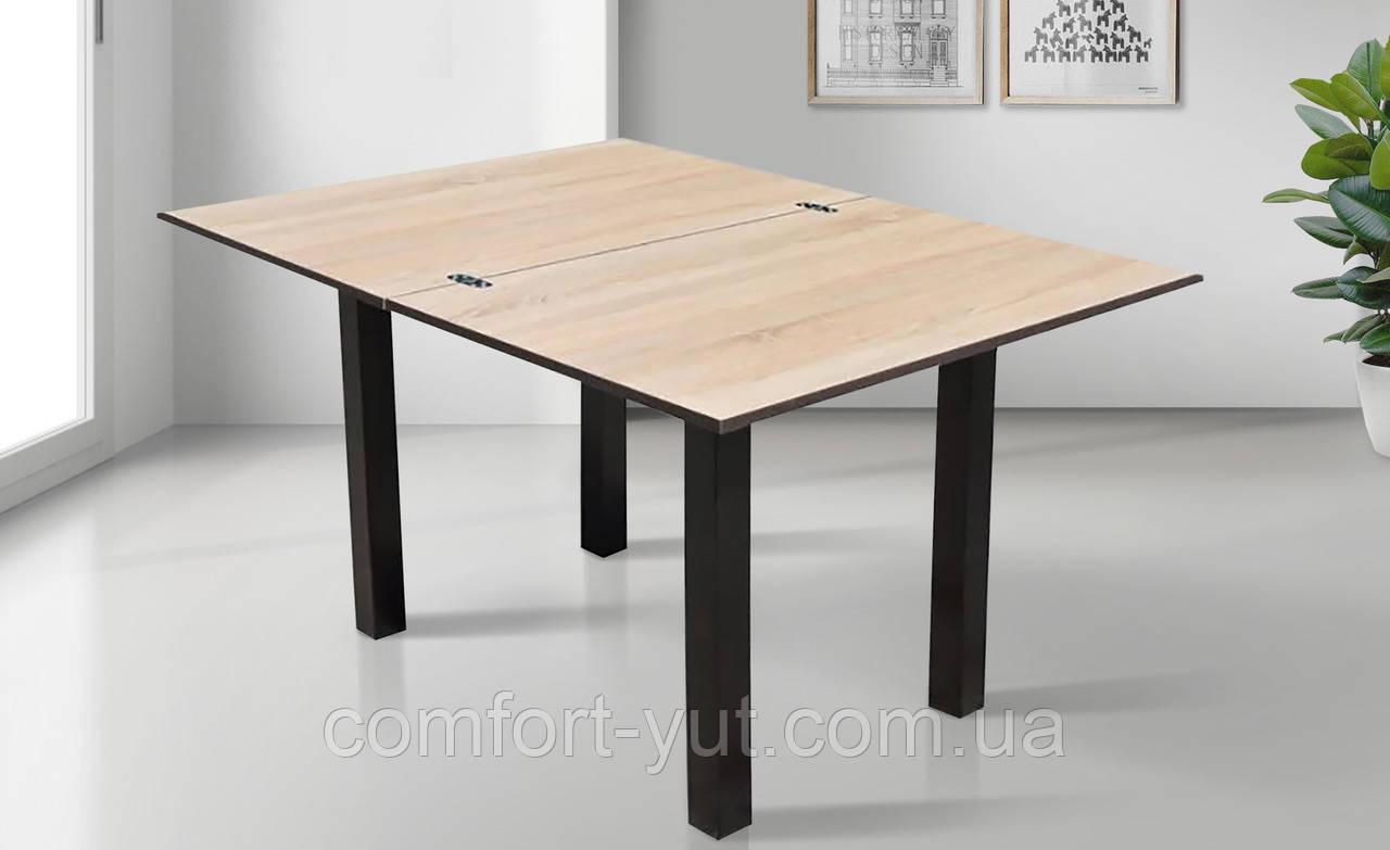 Стол кухонный Ажур дуб сонома - венге 90*60(120)*75см