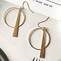 BICUX 2020 модні геометричні довгі сережки з пензликами золото