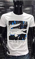 Мужская футболка  Lacoste черная   5002-6