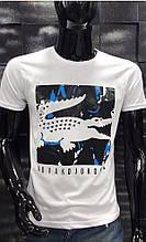 Мужская футболка  Lacoste черная