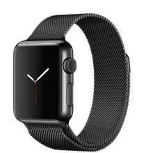 Ремешок Milanese Loop (Миланская петля) для Apple Watch 38mm/40mm Black