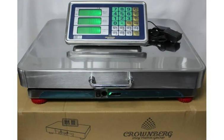 Торговые электронные весы Crownberg CB-250 с Wifi, до 250 кг (нержавейка), фото 2