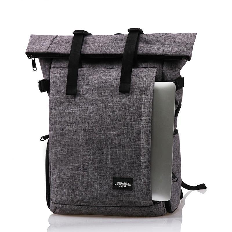 Фоторюкзак rolltop Lightpro MY01 с отделом под ноутбук серый