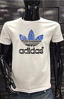Мужская футболка Adidas синяя  5002-11