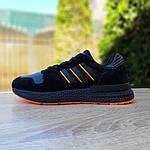 Чоловічі кросівки Adidas ZX 500 RM (чорно-помаранчеві), фото 2
