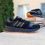 Чоловічі кросівки Adidas ZX 500 RM (чорно-помаранчеві), фото 6