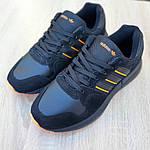Чоловічі кросівки Adidas ZX 500 RM (чорно-помаранчеві), фото 4