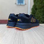 Чоловічі кросівки Adidas ZX 500 RM (чорно-помаранчеві), фото 7