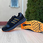 Мужские кроссовки Adidas ZX 500 RM (черно-оранжевые), фото 8