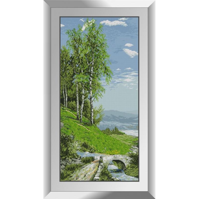Алмазная техника Пейзаж с березами Dream Art 31404 (44 x 93 см)