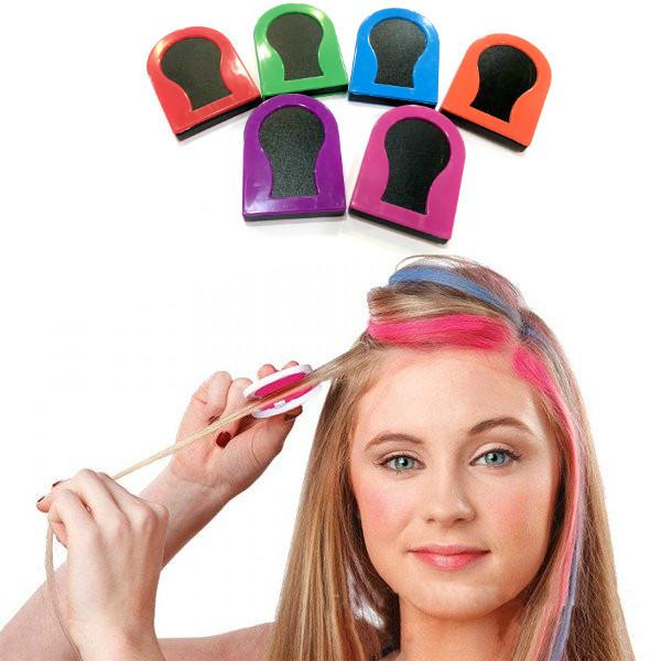 Цветные мелки для волос 6 цветов