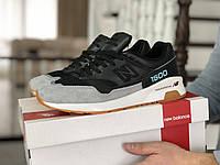 Мужские кроссовки New Balance 1500 ВЕЛИКОБРИТАНИЯ (черно-серые с мятой) 9109