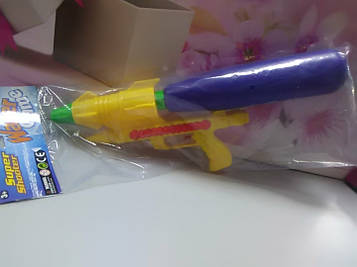 Детский водный пистолет с синим баллоном
