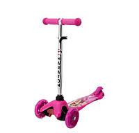 Самокат Барби светящиеся колеса PVC Maraton, фото 1
