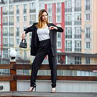Женский,брючный,деловой,стильный костюм, ткань  креп костюмный, р-ры 42,44,46,48 ( 689.1)  черный