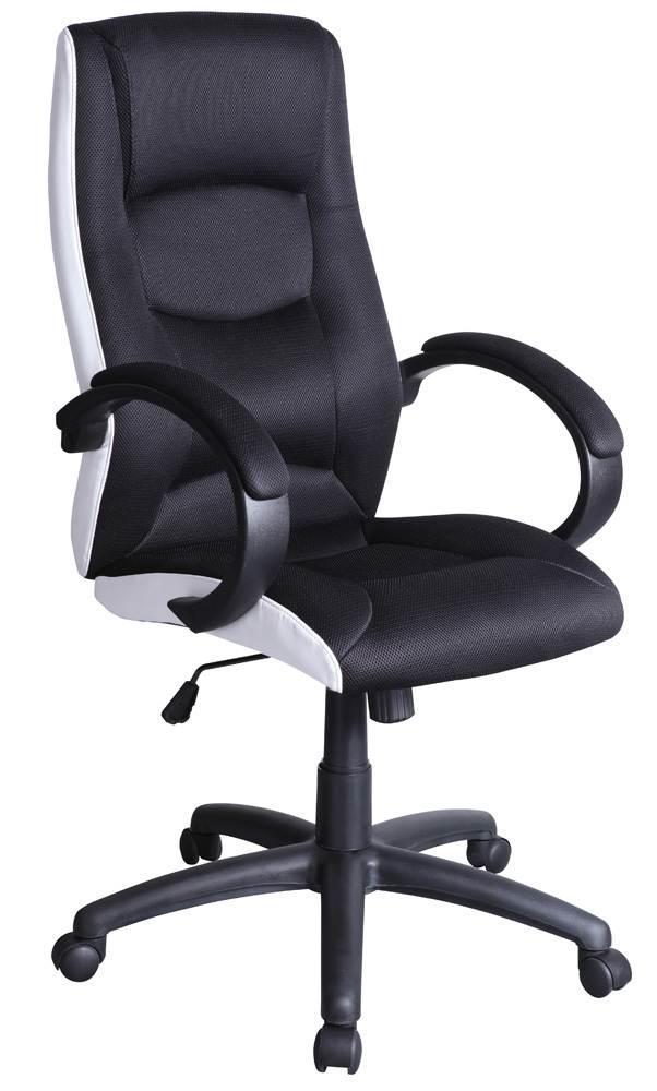 Крісло комп'ютерне Q-041 чорно-білий (Signal)