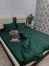 Комплект постельного  белья Страйп Сатин Изумруд