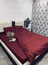 Комплект постельного  белья Страйп Сатин Гранат