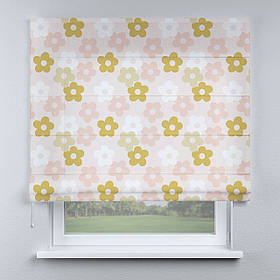 Римская фото штора Цветочки