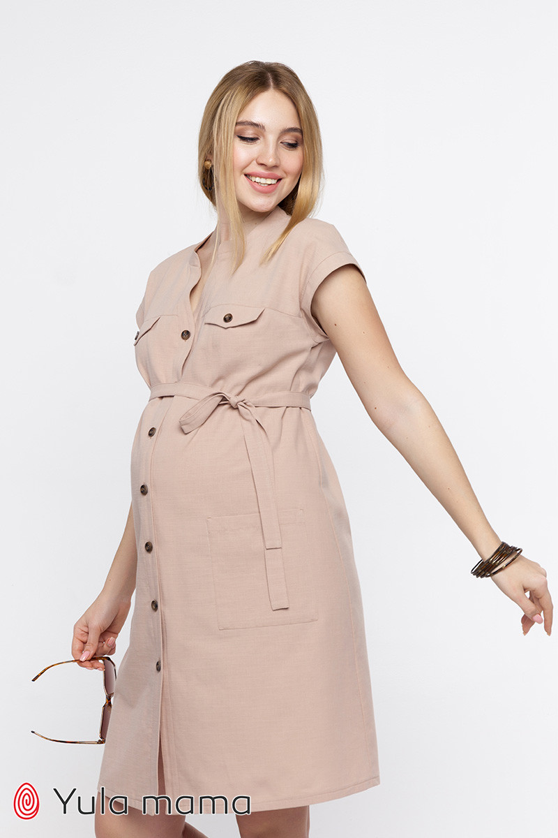 Платье для беременных и кормящих IVY DR-20.022 бежевое