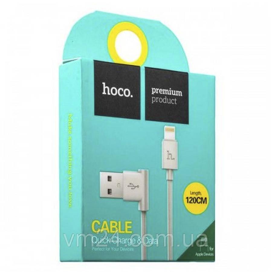 USB cable HOCO MicroUSB (UPM10) L shape белый