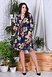 Модное нарядное женское платье,ткань софт-принт,размеры:44,46,48,50,52,54., фото 3