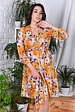 Модное нарядное женское платье,ткань софт-принт,размеры:44,46,48,50,52,54., фото 4