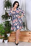 Модное нарядное женское платье,ткань софт-принт,размеры:44,46,48,50,52,54., фото 5