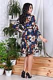 Модное нарядное женское платье,ткань софт-принт,размеры:44,46,48,50,52,54., фото 7