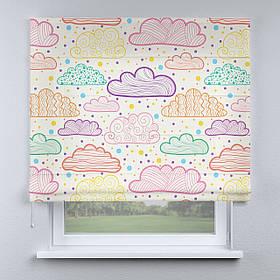 Римская фото штора Облака