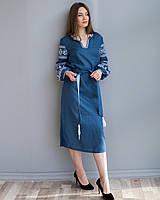 Лляна сукня з вишивкою Мереживо