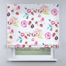 Римська фото штора Квіточки