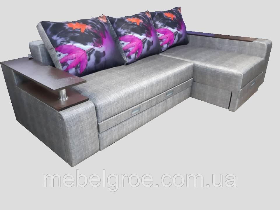 Угловой диван Вермут (ламель+пруж.блок) тм Мамомебель