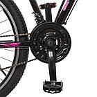 Спортивный велосипед колеса 26 дюймов PROFI G26VEGA A26.2 черно-розовый, фото 3