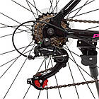 Спортивный велосипед колеса 26 дюймов PROFI G26VEGA A26.2 черно-розовый, фото 4
