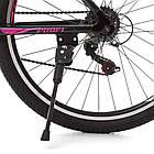 Спортивный велосипед колеса 26 дюймов PROFI G26VEGA A26.2 черно-розовый, фото 5