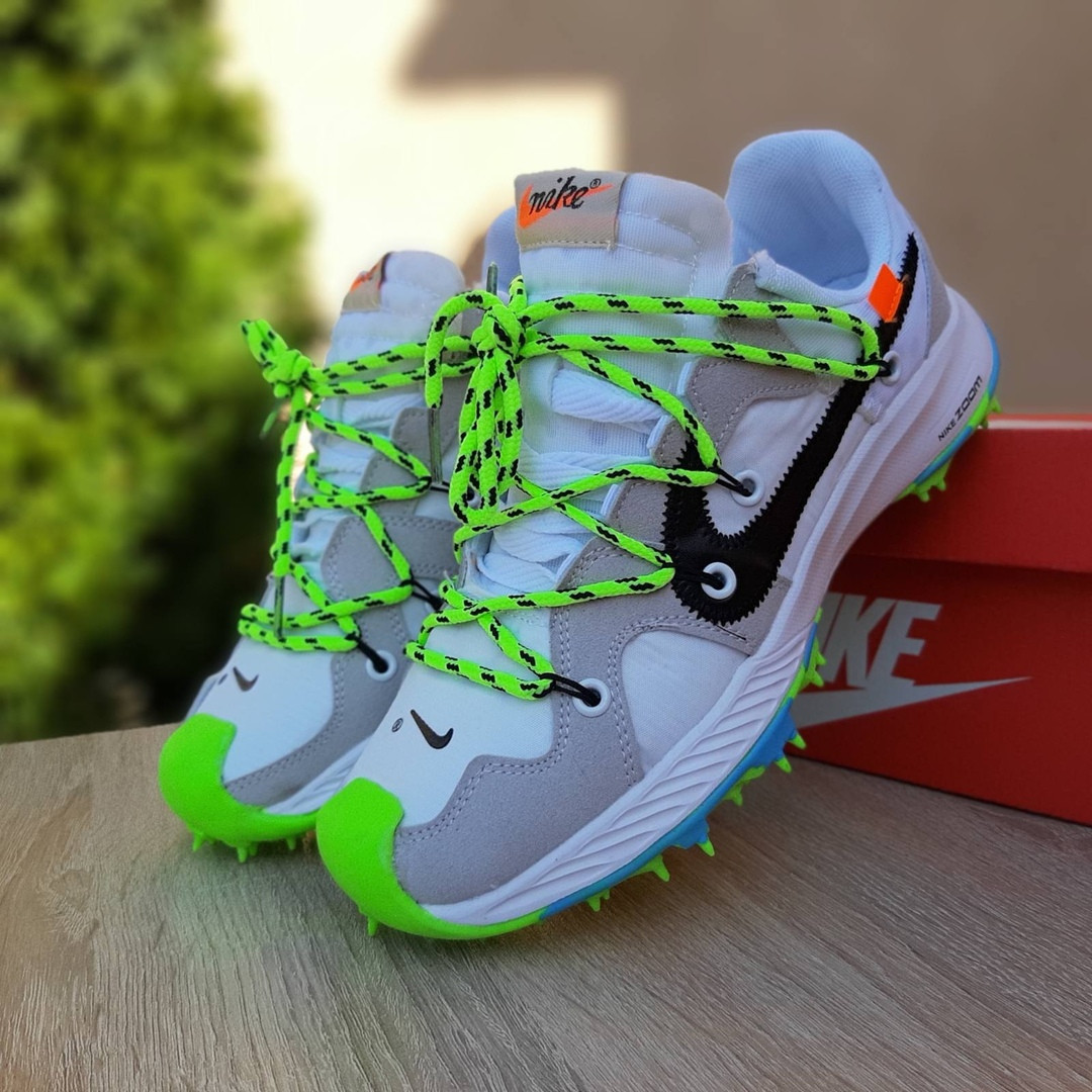 Женские кроссовки Nike Zoom Terra Kiger 5 Off-White (бело-салатовые) 20022